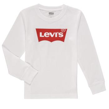 tekstylia Chłopiec T-shirty z długim rękawem Levi's L/S BATWING TEE Biały
