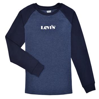 tekstylia Chłopiec T-shirty z długim rękawem Levi's LONG SLV WAFFLE TEE SHIRT Marine