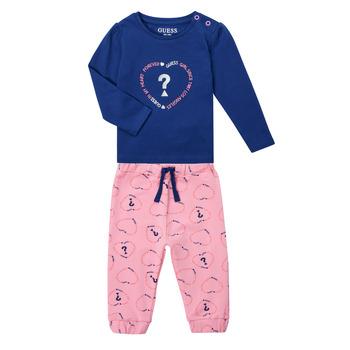 tekstylia Dziewczynka Komplet Guess ANISSA Różowy / Niebieski