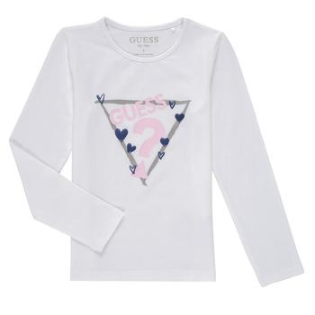 tekstylia Dziewczynka T-shirty z długim rękawem Guess MONICA Biały