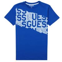 tekstylia Chłopiec T-shirty z krótkim rękawem Guess LISTIN Niebieski