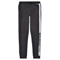 tekstylia Chłopiec Spodnie dresowe Calvin Klein Jeans RESPIRA Czarny