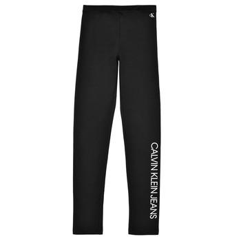 tekstylia Dziewczynka Legginsy Calvin Klein Jeans MERCA Czarny