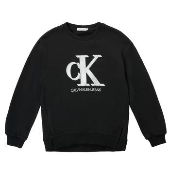 tekstylia Dziewczynka Bluzy Calvin Klein Jeans POLLI Czarny