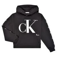 tekstylia Dziewczynka Bluzy Calvin Klein Jeans SALOMA Czarny