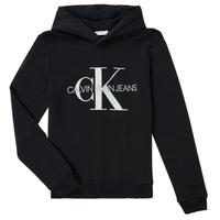 tekstylia Dziecko Bluzy Calvin Klein Jeans TRINIDA Czarny