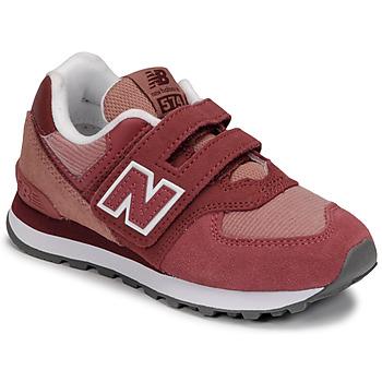 Buty Dziewczynka Trampki niskie New Balance 574 Różowy
