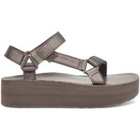 Buty Damskie Sandały Teva Flatform Universal Leather Women's Metallic Bronze