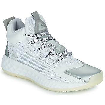Buty Koszykówka adidas Performance PRO BOOST MID Biały / Srebrny