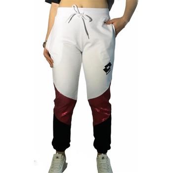tekstylia Damskie Spodnie dresowe Lotto LTD447 'Biały/'Fuksja