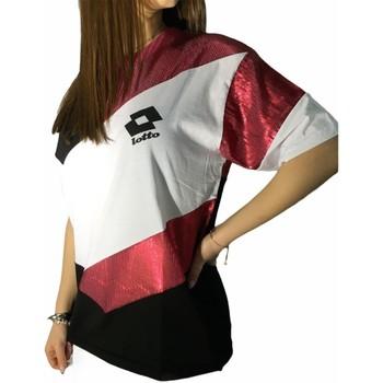 tekstylia Damskie T-shirty z krótkim rękawem Lotto LTD445 'Biały/'Fuksja