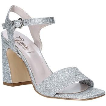 Buty Damskie Sandały Grace Shoes 2384002 Srebro