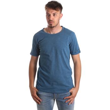 tekstylia Męskie T-shirty i Koszulki polo Gaudi 911BU64027 Niebieski