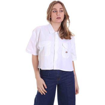 tekstylia Damskie Koszule Dickies DK0A4XE1WHX1 Biały