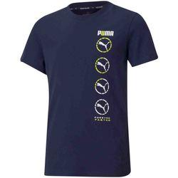 tekstylia Dziecko T-shirty z krótkim rękawem Puma 585855 Niebieski