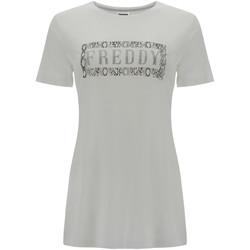 tekstylia Damskie T-shirty z krótkim rękawem Freddy S1WALT2 Biały