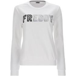 tekstylia Damskie Bluzy Freddy S1WCLS4 Biały