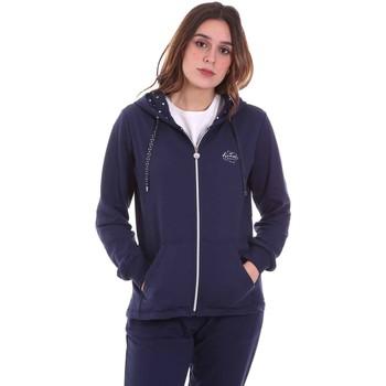 tekstylia Damskie Bluzy Key Up 5F741 0001 Niebieski