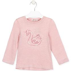 tekstylia Dziewczynka T-shirty z długim rękawem Losan 026-1796AL Różowy