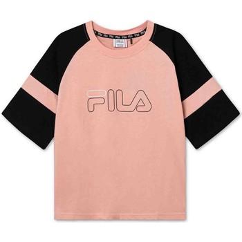 tekstylia Dziecko T-shirty z krótkim rękawem Fila 683330 Różowy