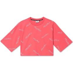 tekstylia Dziewczynka T-shirty z krótkim rękawem Fila 683349 Różowy