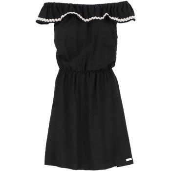 tekstylia Damskie Sukienki krótkie Café Noir JA6090 Czarny