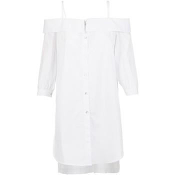 tekstylia Damskie Koszule Café Noir JC6260 Biały