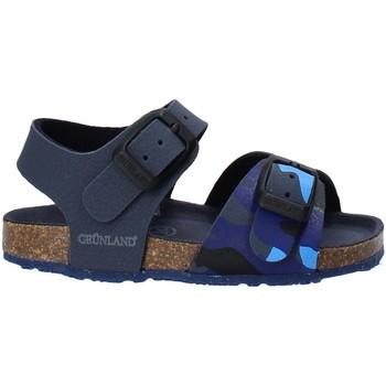 Buty Dziecko Sandały Grunland SB1646 Niebieski