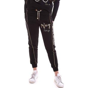 tekstylia Damskie Spodnie dresowe Cristinaeffe 4962 Czarny