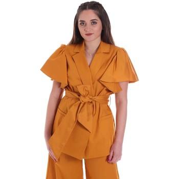 tekstylia Damskie Kurtki / Blezery Cristinaeffe 0308 2491 Żółty
