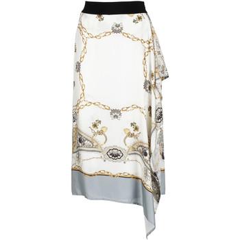 tekstylia Damskie Spódnice Café Noir JO6080 Biały