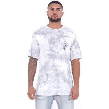 tekstylia Męskie T-shirty z krótkim rękawem Sixth June T-shirt  Custom Tie Dye blanc/rose