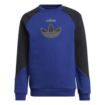 tekstylia Dziecko Bluzy adidas Originals ROUGED Marine / Czarny