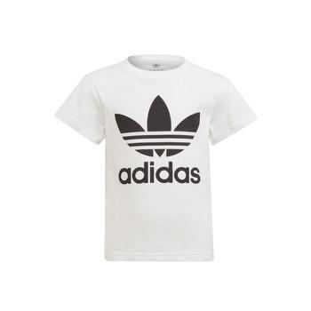 tekstylia Dziecko T-shirty z krótkim rękawem adidas Originals FLORE Biały