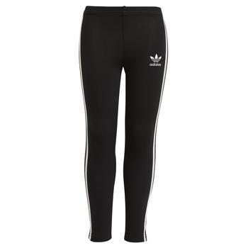 tekstylia Dziewczynka Legginsy adidas Originals CHALEIR Czarny