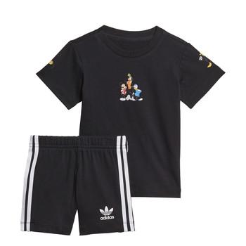 tekstylia Chłopiec Komplet adidas Originals COTES Czarny