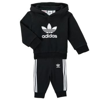 tekstylia Dziecko Komplet adidas Originals TROPLA Czarny