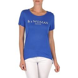 tekstylia Damskie T-shirty z krótkim rękawem School Rag TEMMY WOMAN Niebieski