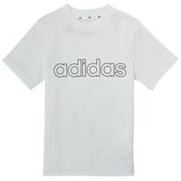 tekstylia Chłopiec T-shirty z krótkim rękawem adidas Performance ALBA Biały