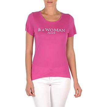 tekstylia Damskie T-shirty z krótkim rękawem School Rag TEMMY WOMAN Fioletowy