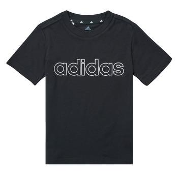 tekstylia Chłopiec T-shirty z krótkim rękawem adidas Performance SAMINA Czarny