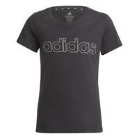 tekstylia Dziewczynka T-shirty z krótkim rękawem adidas Performance PLAKAT Czarny