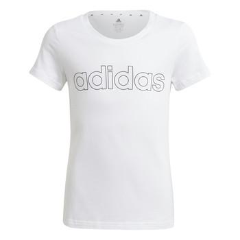 tekstylia Dziewczynka T-shirty z krótkim rękawem adidas Performance HOLLIA Biały