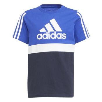 tekstylia Chłopiec T-shirty z krótkim rękawem adidas Performance ABATIA Marine / Czarny
