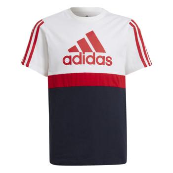tekstylia Chłopiec T-shirty z krótkim rękawem adidas Performance GUILIA Biały / Marine