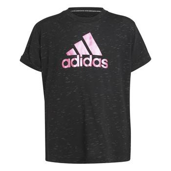 tekstylia Dziewczynka T-shirty z krótkim rękawem adidas Performance MONICA Czarny