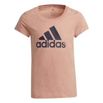 tekstylia Dziewczynka T-shirty z krótkim rękawem adidas Performance ALBERIC Różowy