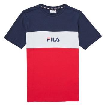 tekstylia Dziewczynka T-shirty z krótkim rękawem Fila TEKANI Czerwony / Marine