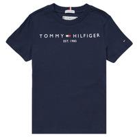 tekstylia Chłopiec T-shirty z krótkim rękawem Tommy Hilfiger SELINERA Marine