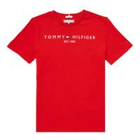 tekstylia Chłopiec T-shirty z krótkim rękawem Tommy Hilfiger SELINERA Czerwony